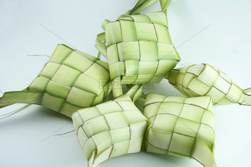 Five Ketupat on White Background