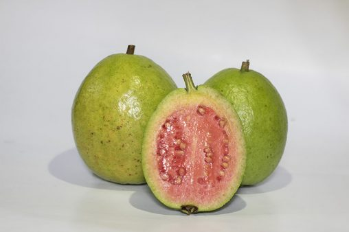 Close Up Guavas Tropical Fruits