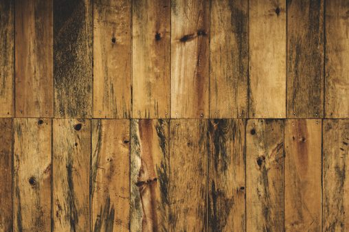 Pine wall and rusty boards
