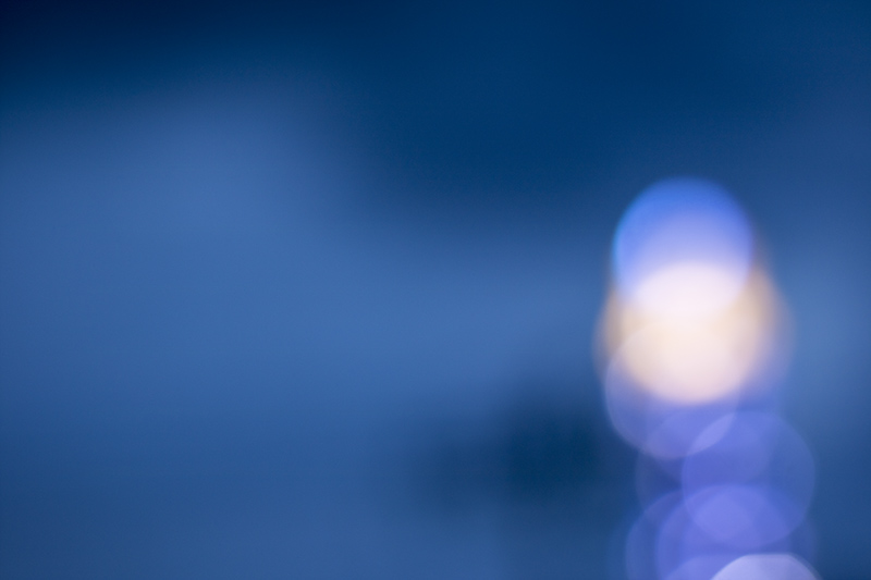 Blurred blue bokeh background