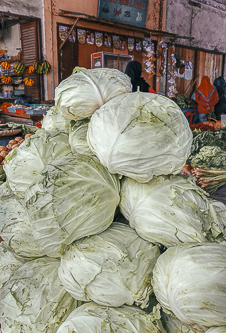 Cabbage in the market